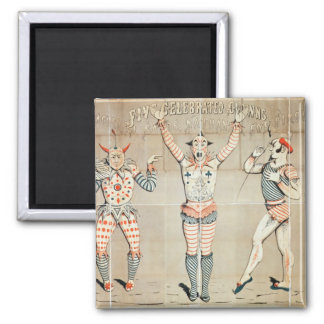 Five Celebrated Clowns Attached to Sands Magnets