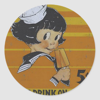 Five Cent Popsicles Round Sticker