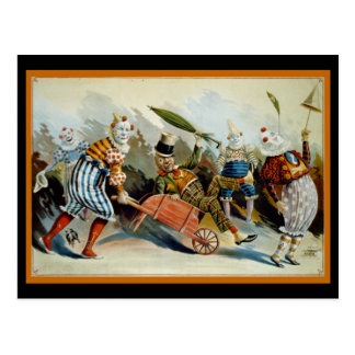 Five Clowns Postcard
