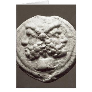 Five coins depicting Janus, Jupiter Card