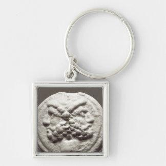 Five coins depicting Janus, Jupiter Keychain