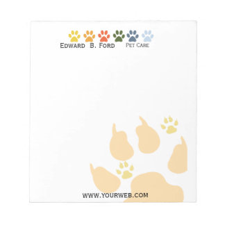 Five Colored Paws Pet  Animal Care Big Little Notepads