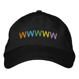 Five Colorful Letters Personalizable Name or Word Embroidered Hat