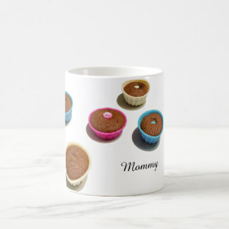 Five delicious colorful muffins coffee mug