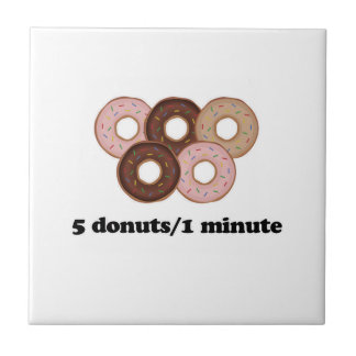 Five donuts in one minute tile