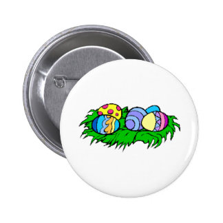 Five Easter Eggs 2 Inch Round Button