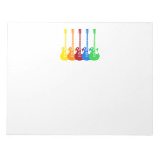 Five Electric Guitars Notepads