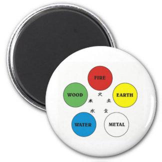 Five Element 2 Inch Round Magnet
