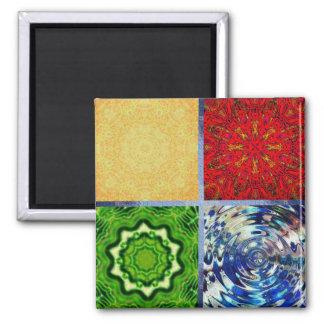 Five Elements Square Magnet