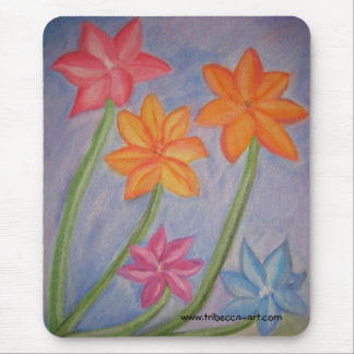 Five Flowers Mouse Pad