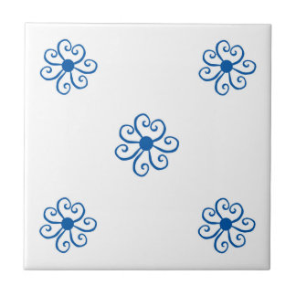 five flowers tile array traditional design
