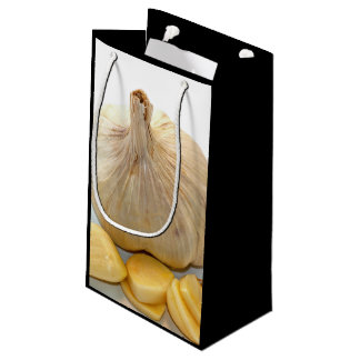 Five Garlic Slices And A Garlic Clove Small Gift Bag
