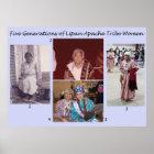 Five Generations of Lipan Apache Tribe Women Poster