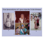Five Generations of Lipan Apache Tribe Women Poster