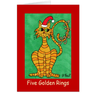 Five Golden Rings Card