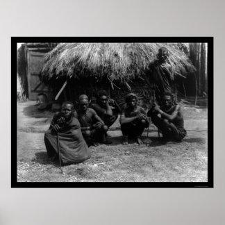 Five Kenya Masai Men in Africa 1920 Poster