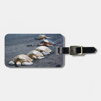 Five Lazy Turtles Lying In The Sand Luggage Tag