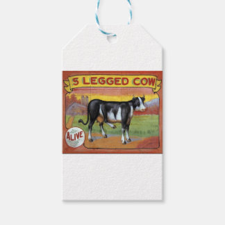 Five Legged Cow Pack Of Gift Tags