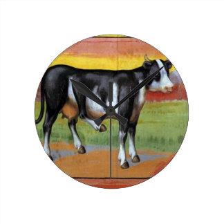 Five Legged Cow Round Clock