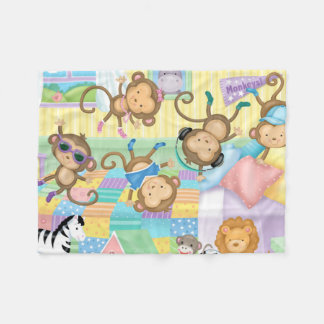 Five Little Monkeys Flannel Blanket