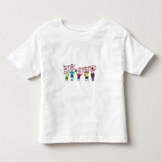 Five little piggies toddler t-shirt