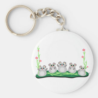 Five Mice Keychain