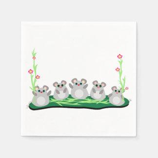 Five Mice Paper Napkins