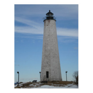 Five Mile Point Lighhouse New Haven CT Harbor Postcard