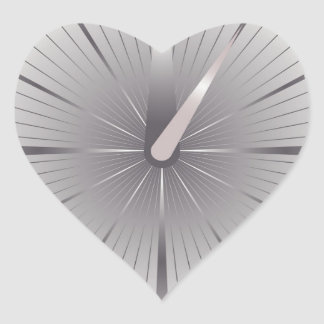 five minutes heart sticker