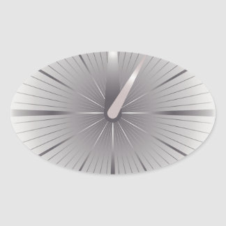 five minutes oval sticker