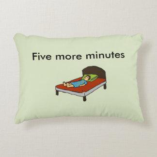 Five more minutes decorative pillow