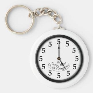 FIVE O'CLOCK CLOCK KEYCHAIN