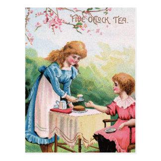 Five o'clock Tea Postcard