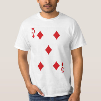 Five of Diamonds Playing Card T-Shirt