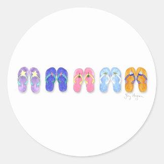 Five Pairs of Flip-Flops Sticker