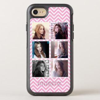 Five Photos Pink Chevron Instagram Style OtterBox Symmetry iPhone 7 Case
