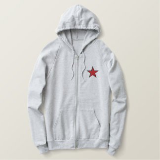 Five Point Star Embroidered Hoodie