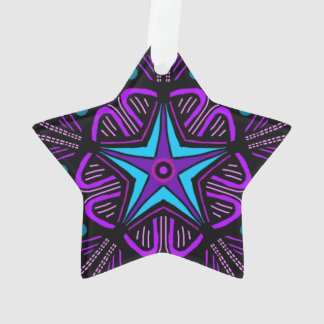 Five point star on same. ornament