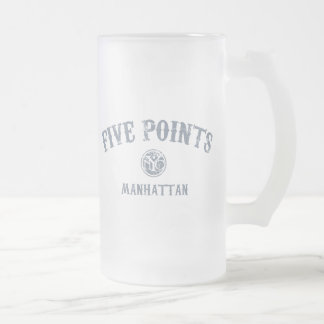 Five Points Frosted Glass Beer Mug