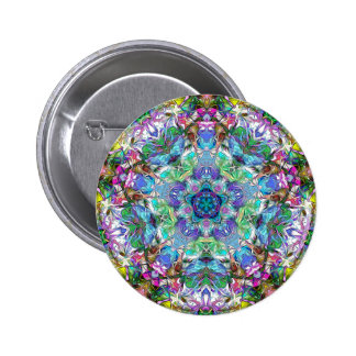 Five Points of Color Abstract 2 Inch Round Button