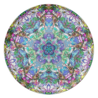 Five Points of Color Abstract Plate