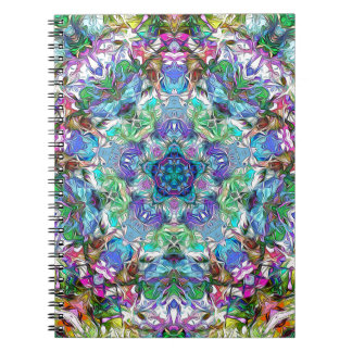 Five Points of Color Abstract Spiral Note Book