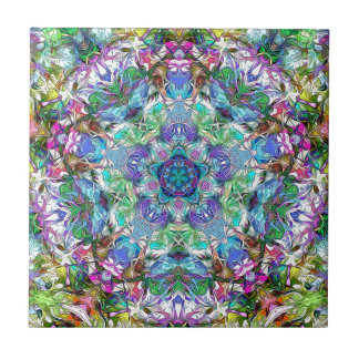 Five Points of Color Abstract Tiles
