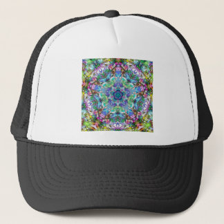 Five Points of Color Abstract Trucker Hat