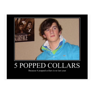Five Popped Collars Cool Postcard