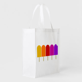 Five Popsicles Reusable Grocery Bag