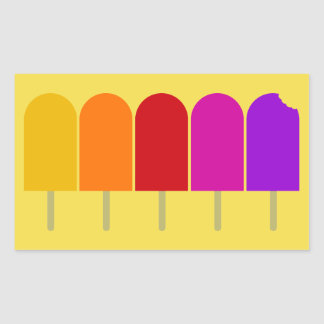 Five Popsicles Sticker