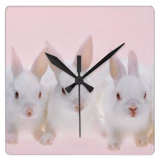 Five Rabbits 2 Wall Clock