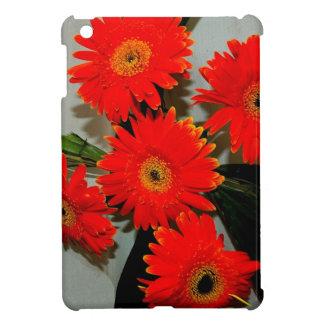 Five Red Flowers iPad Mini Covers