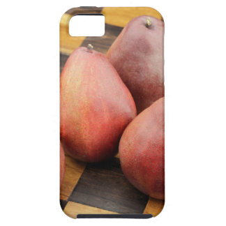 Five Red Pears on a Wooden Chessboard Case For The iPhone 5
